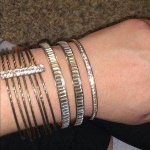 Gold Bracelet Stack mix match bangle set